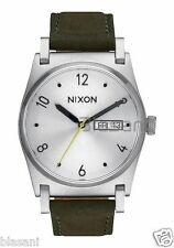 Nixon Original Jane Leather A955-2232 Silver / Surplus 35mm Watch