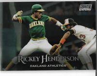 2019 Topps Stadium Club Chrome Parallel Rickey Henderson Oakland Athletics