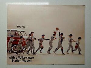 1960's Volkswagen Van / Station Wagon Color Brochure