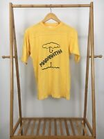 VTG 80s Maranatha Come Our Lord Athletic Short Sleeve Yellow T-Shirt Size M-L