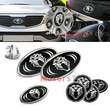 7pcs 3D K5 Tigris Emblem Set (Grille Trunk Steering Wheel 4 Rims) For Kia Optima