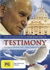 Testimony - The Untold Story Of Pope John Paul II (DVD, 2010)