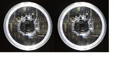 """WHITE LED Halo Ring for Ford Falcon Mustang 5-3/4"""" Round H4 Headlights"""
