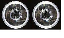 """5-3/4"""" Round WHITE LED Halo Ring H4 Headlights for Holden HQ HK HT HX HZ HJ HG"""