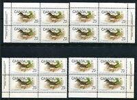 MNH Canada set of 12 - 1969 Birds Plate Blocks #496 - 498 (Lot #rn69)