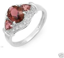 1.80ctw Tourmaline & Diamond 10K White Gold Ring