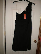American Rag little black one-shouldered party cocktail dress NWT 3X
