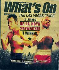Floyd MAYWEATHER Jr Oscar DE LA HOYA 2007 Las VEGAS Magazine Cover Boxing Fight