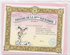 NEUF CARTE DIPLOME 40 TAINE + ENVELOPPE  !! 10 CARTES ACHETEES = PORT GRATUIT