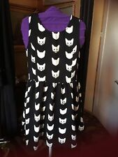 Divided H&M Black and White Sleeveless Cat Dress Size M