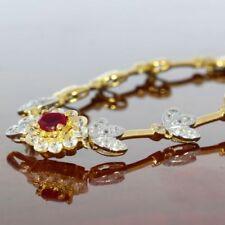 Unbehandelte Armbänder mit echten Edelsteinen aus mehrfarbigem Gold