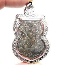 LP KLAN 2469 COIN PENDANT THAI POWERFUL BUDDHA AMULET PROTECTION LUCKY SUCCESS
