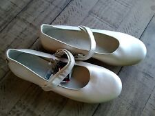 New Ciao Bimbi girls leather shimmer ivory made in Italy shoes euro 38 us 6.5 y