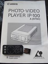 Original Owner Manual and Remote Control for Canon Lp-100 Photo-Video Aps Film