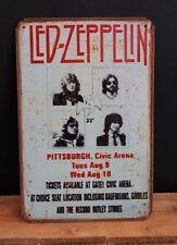 Led Zeppelin Vintage Style Metal Sign ( 20x30cm )