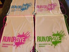 100 Color Run or Dye Drawstring Backpack Bag Large School Sport String Promo LOT
