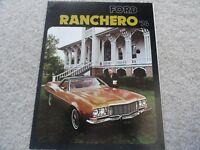 1974 Ford Ranchero Sales Brochure