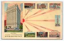 1948 Hotel Park Chambers W. 58th Street, New York, NY Postcard