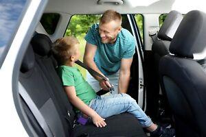 Buckle Booster™ Seat Belt Receptacle Raiser 2-PACK - Purple, Single Receptacle