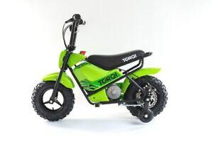 Torqi 250W Mini Bike Children Kids Electric 24V Monkey Dirt Bike Motorbike Green