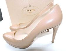 b36e87979ed PRADA Beige Leather Classic PUMPS Nude Shoe 41.5