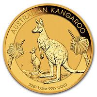 2020 Australia 1/2 oz Gold Kangaroo BU - SKU#198569