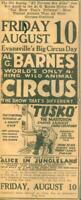 Advertising Newspaper Al G.Barnes Worlds  Wild Animal Circus TUSKO Mastodon 1923