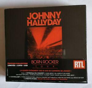 COFFRET CD JOHNNY HALLYDAY BORN ROCKER TOUR EDITION COLLECTOR LIMITÉE NEUF