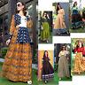 Women Casual Indian  Cotton Long Kurti Tunic Kurta Tank Top Shirt Dress K250