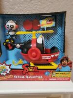 *RYAN'S WORLD* Combo Panda Figure & Rescue Helicopter *DISC LAUNCHER* New 2019
