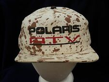 trucker hat baseball cap POLARIS ATV mud splatterred look cool style retro