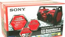 """Sony  (ZS-H10CP) AM/FM  Rugged jobsite CD  20"""" boombox & water & dust-resistant"""