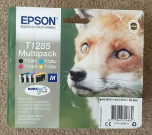 Epson T1285 Ink Multipack x 4 T1281 Black T1282 Cyan T1283 Magenta T1284 Yellow