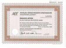 AEE Ahaus-Enscheder Eisenbahn AG, Ahaus 1989, 20x50 DM