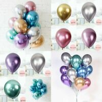 Pack of 10 Qualatex Latex Balloons -PEARLISED Shiny - Birthday Party Decorations