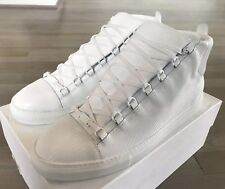 1e3b64b512da6 635  Balenciaga White Arena Leather High Tops Sneakers size US 14