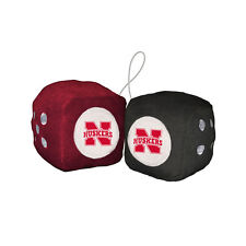 Nebraska Cornhuskers Car Truck Rear View Mirror Soft Plush Fuzzy Hanging Dice
