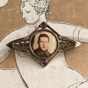 Broche Ancienne Photo sur porcelaine 1900 Antique French Brooch