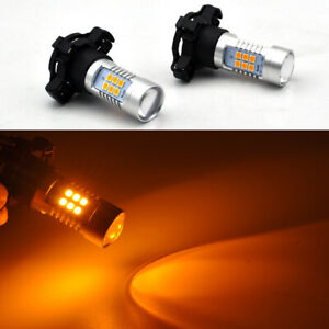 2x Error Free Amber cree PY24W LED Bulbs Front Turn Signal Lights For BMW audi