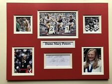 """Athletics Mary Peters Signed 16"""" X 12"""" Double Mounted Display"""