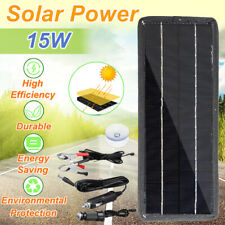 Portable 15W 12V Solar Panel High Efficiency Battery Charge For Car RV Boat Home