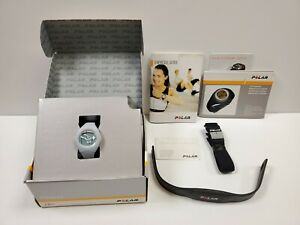 Polar F4 Blu Ice Fitness Heart Rate Monitor W/ Belt Manual New (Other) in Box