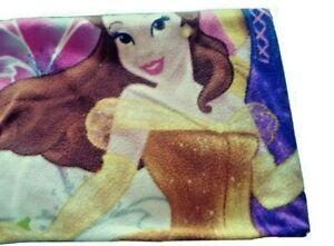 "Disney Princess Blanket Fleece 46"" x 60"" Princesses Rapunzel Aurora Belle"