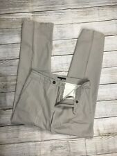 Mens THEORY Casual Dress Premium Wide Leg Straight Chino Pants Khaki Sz 32/35