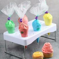 Practical Cake Pastry Decorating Bag Holder Stainless Steel Decor Bags Stand