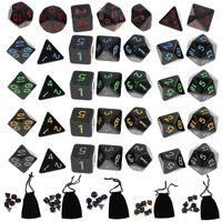 35Pcs TRPG Würfel-Set Dungeons & Dragons Würfelset D4-D20 Würfelspiel Multi-side