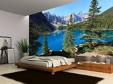 Lake Mountains Green NatureTrees Wall Mural Photo Wallpaper GIANT WALL DECOR