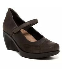 NAOT Brown Leather DAY Mary Jane Wedge Pumps Shoes EUR 38 US 7 NWOB
