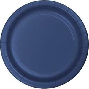 """Navy Blue 10"""" Paper Plates 24 Per Pack Tableware Party Decorations Supplies"""