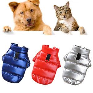 Hot Puppy Dog Pet Cotton Padded Bread Clothes Apparels Vest Jacket Coat Supplies
